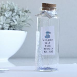 Best Friend Gift Personalised Tiny Message In A Bottle - new in home