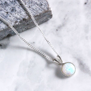 Kathia Sterling Silver Opal Necklace
