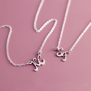Monogram Sterling Silver Initial Necklace - necklaces & pendants