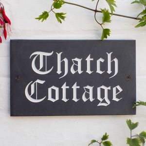 Personalised Slate House Sign - garden