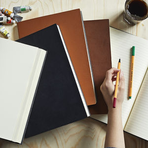Personalised Leather Notebook - 50th birthday gifts