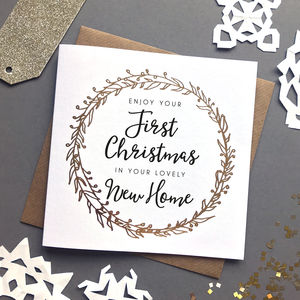 'First Christmas In Your New Home' Foiled Card
