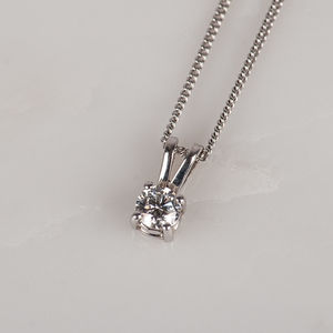 0.25ct Diamond And White Gold Pendant