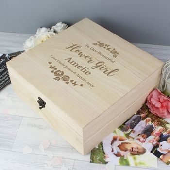 Personalised Bridal Party Wooden Keepsake Box