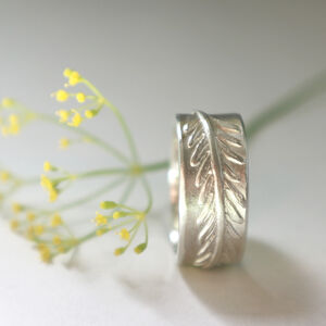 Wide Band Fern Ring