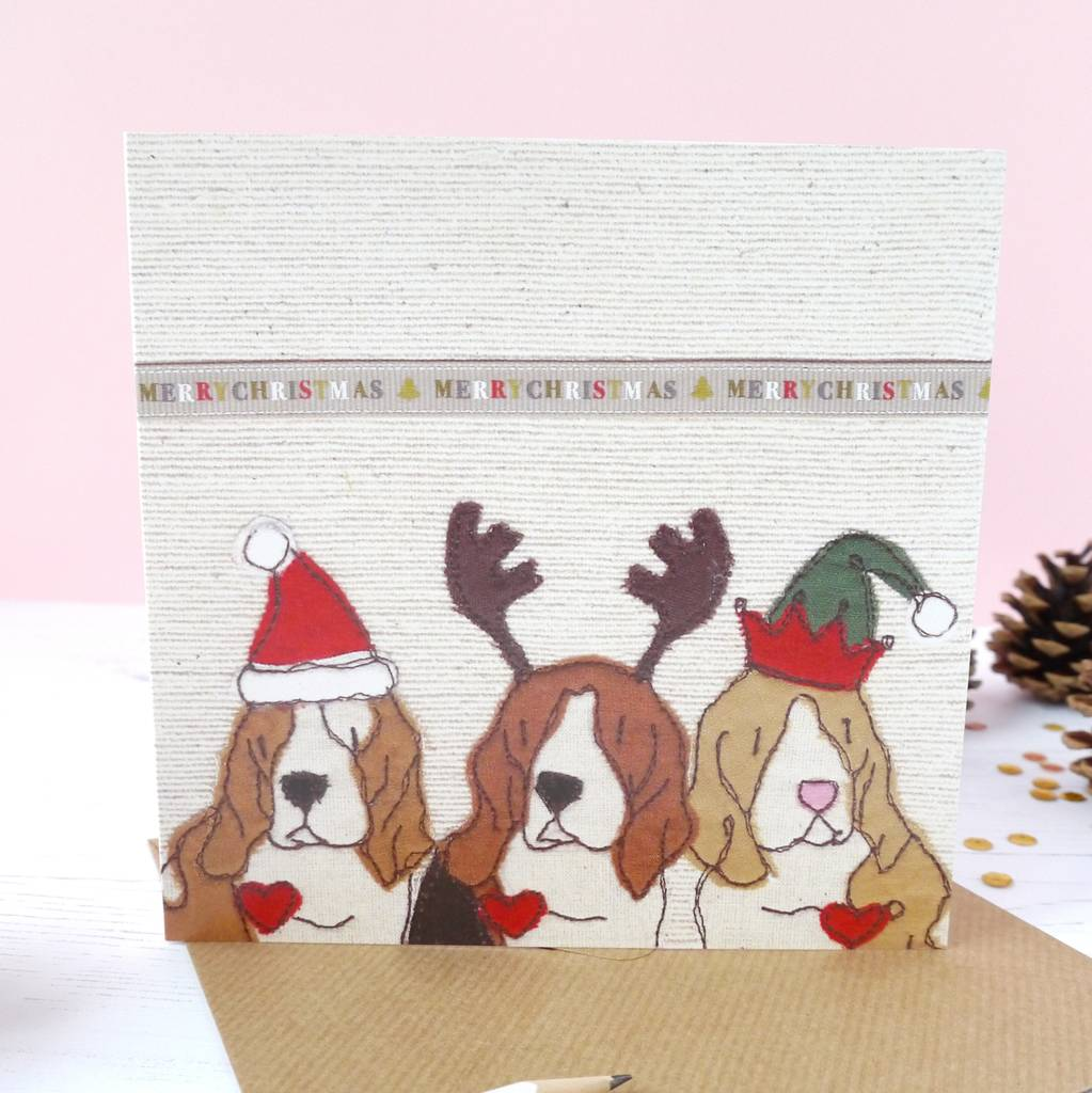 trio of dogs christmas cards by ren and thread | notonthehighstreet.com