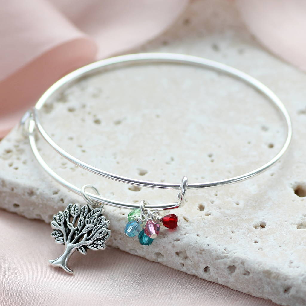 Family Tree Birthstone Bangle