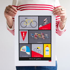 Cycling Terminology Art Print