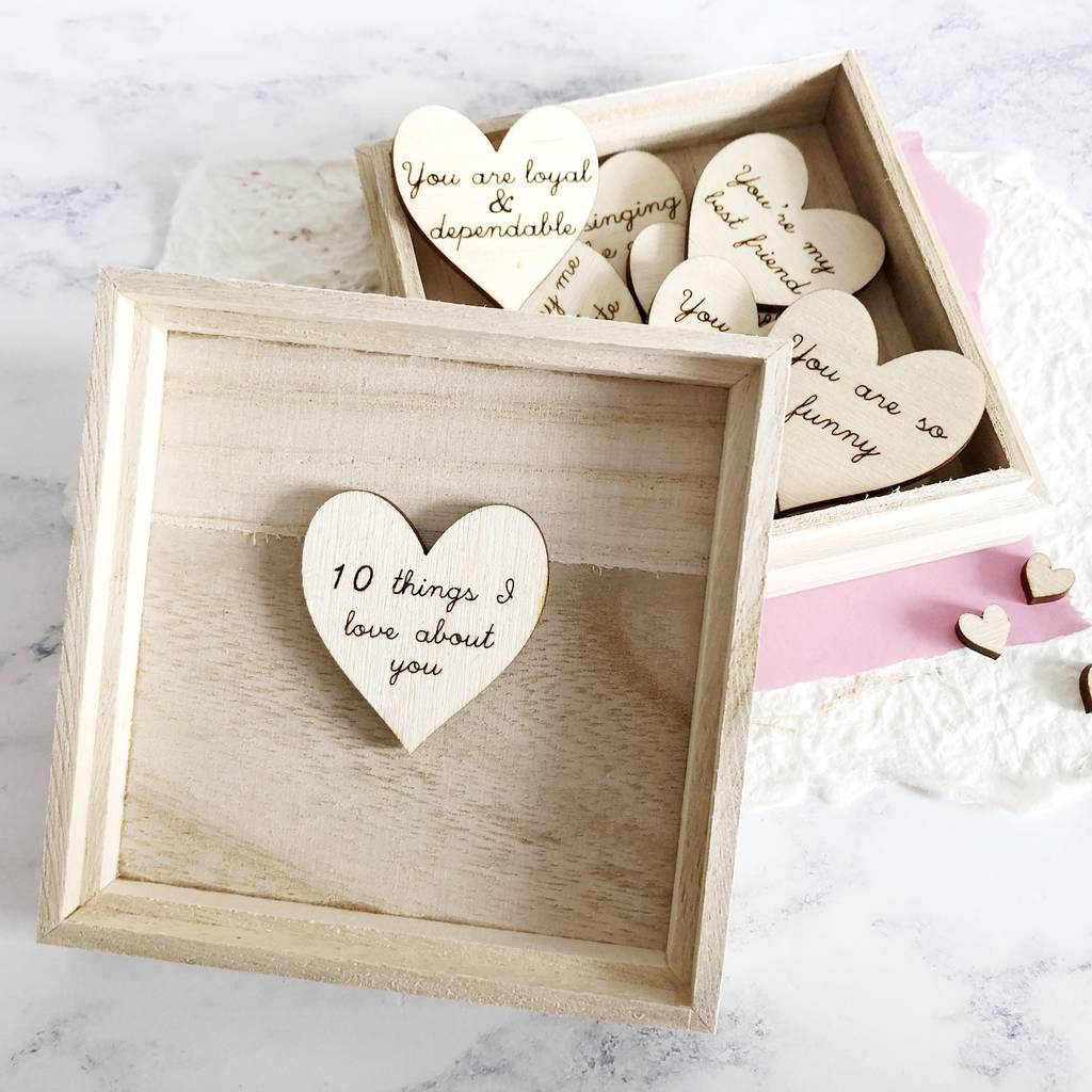 10 Things I Love About You Wooden Gift Box By Jayne Tapp