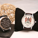 Personalised Handmade Watch With Your Coat Of Arms