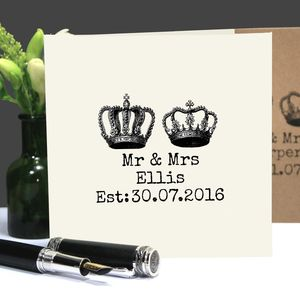 Personalised 'Mr And Mrs' Wedding Or Anniversary Card
