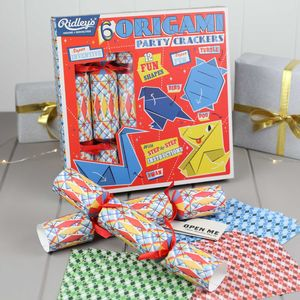 Outstanding Origami Set Of Six Party Crackers - christmas entertaining