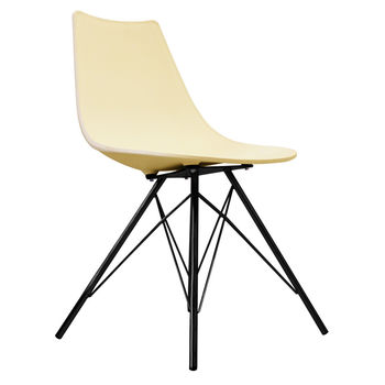 Oslo Chair Vanilla With Black Metal Legs
