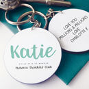 Personalised Prosecco Club Member Keyring
