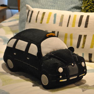 London Black Taxi Cab 3D Plush Toy Cushion - patterned cushions
