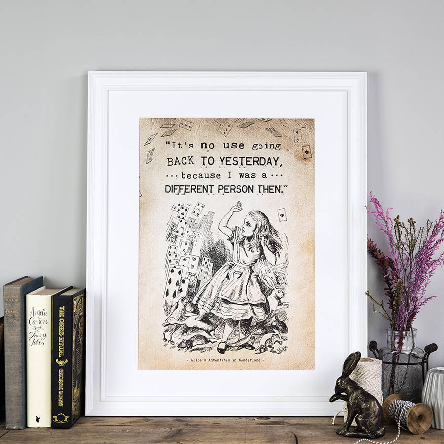 Alice In Wonderland 'Yesterday' Print