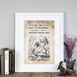 Alice In Wonderland 'Yesterday' Poster Print - prints & art sale
