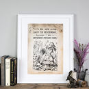 Alice In Wonderland 'Yesterday' Poster Print