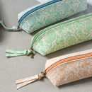 Recycled Pastel Paisley Personalised Pencil Case