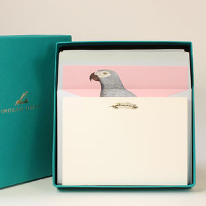 Luxury Parrot Letter Writing Set - notelets & writing paper
