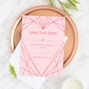 Geometric Heart Wedding Save The Date Pack Of 10
