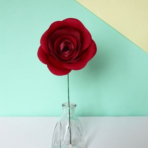 Classic Red Paper Rose - flowers, plants & vases