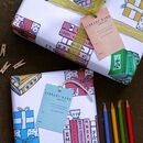Books Wrapping Paper Set