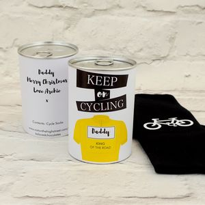 Keep On Cycling Tin Of Socks