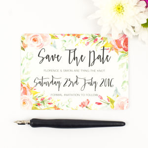 Spring Blossom Wedding Save The Date