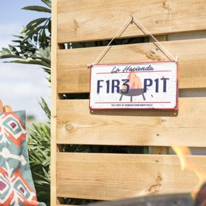Firepit Wall Sign
