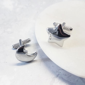 Moon And Stars Cufflinks Astrology