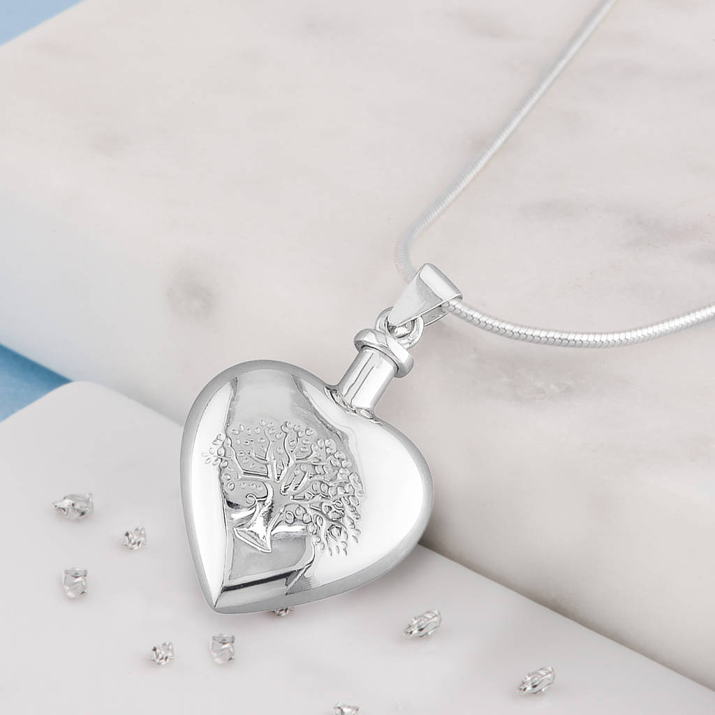 15b8ff29ed ashes tree of life heart shaped urn necklace by ashes memorial ...