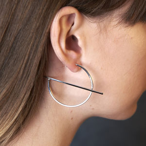 Oversized Hoop Earrings - earrings