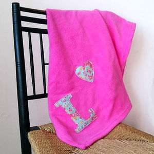 Liberty Initial Baby Blanket - baby & child sale
