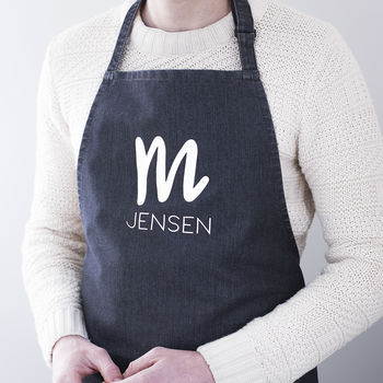 Personalised Initial Adult Apron