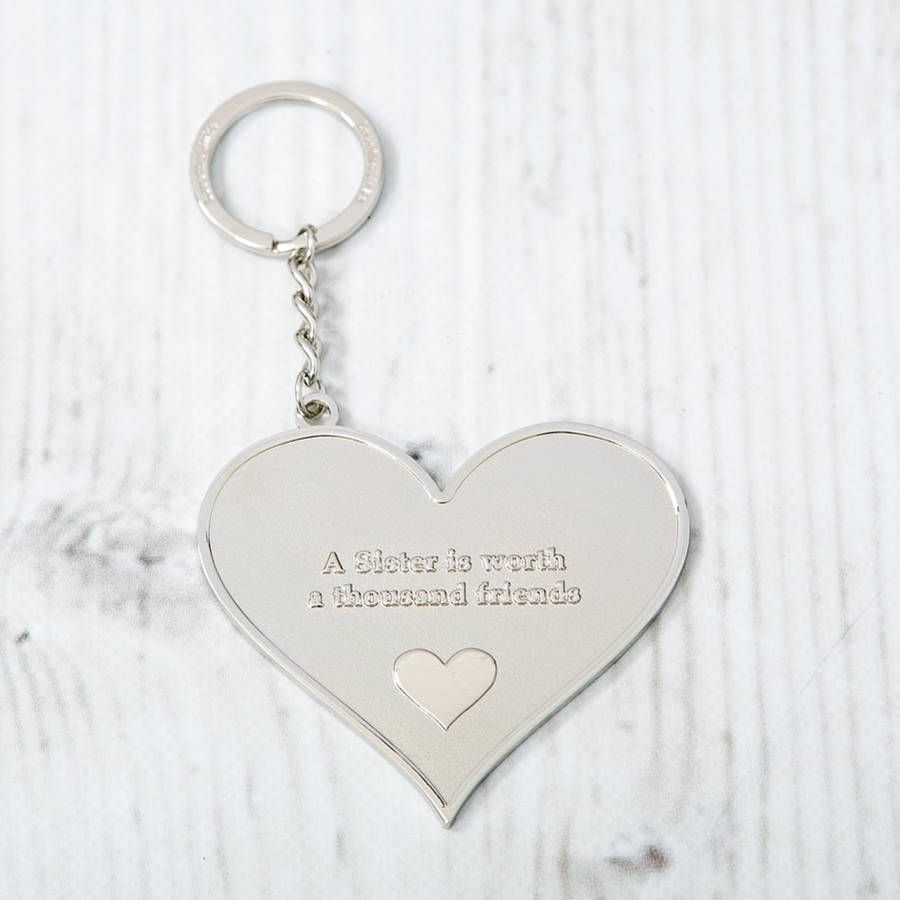 mother and family large heart message keyring by lovethelinks ... 56592092116b