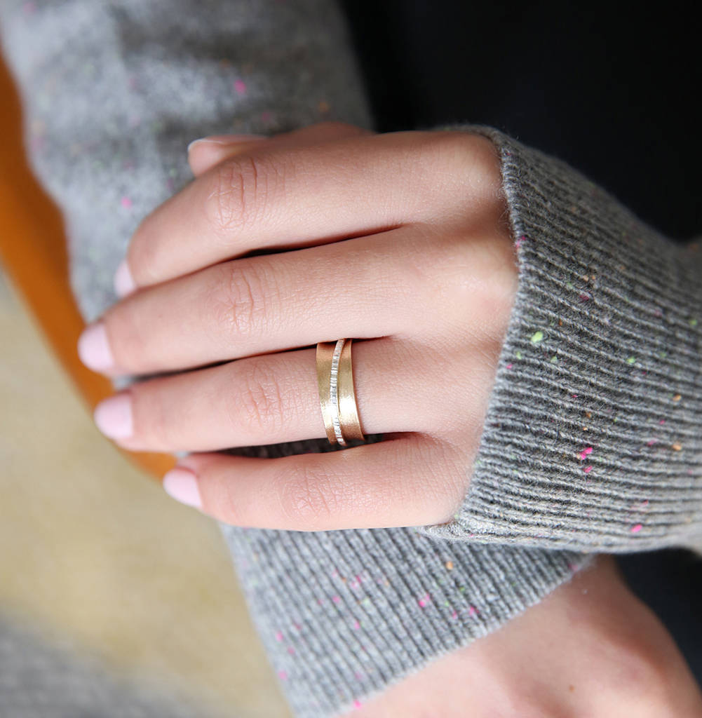 9ct gold spinner ring by sarah hickey | notonthehighstreet.com