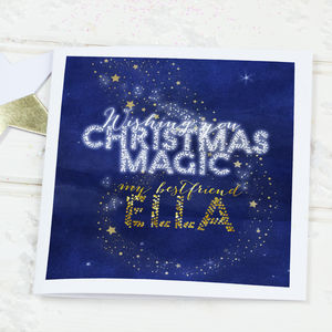 Personalised Christmas Best Friend Card 'Wishing Star' - cards & wrap