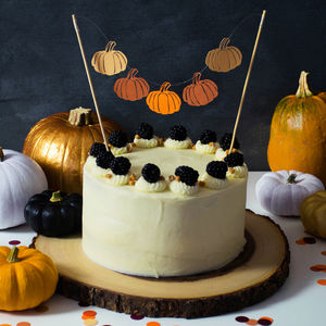 Pumpkin Cake Bunting - cake decoration