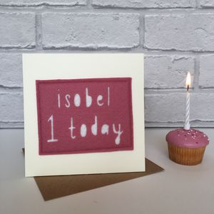 Personalised Birthday Age Card - birthday cards