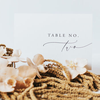 Samantha Table Numbers