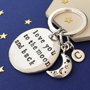Moon And Back Keyring