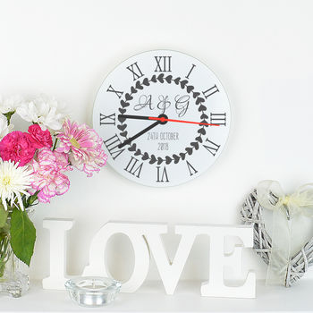 Personalised Initials Clock