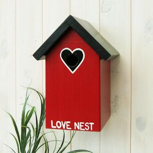 Personalised Love Nest Bird Box - birds & wildlife