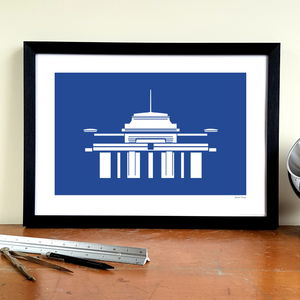 'Filbert Street' Minimalist Leicester City Art Print - activities & sports