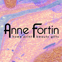 Anne Fortin logo home, print designs and textiles