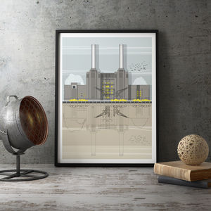 Battersea Power Station Architectural Print - posters & prints