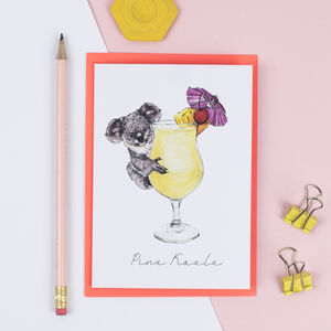 Pina Koala Greeting Card