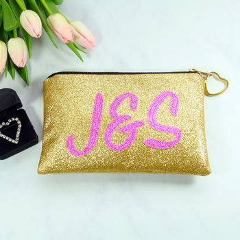 Personalised Initials Bridal Clutch Bag