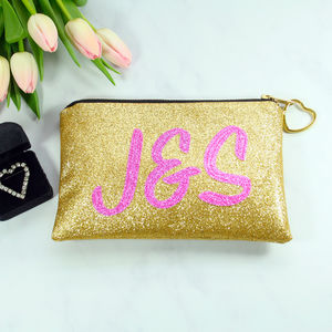Personalised Initials Bridal Clutch Bag - wedding fashion